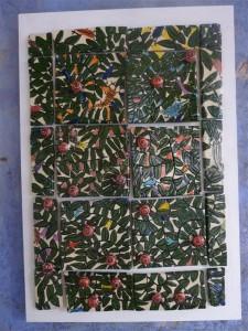 36 Passage du bûcher avec carrelages fond blanc / Butcher passage with white background tiles