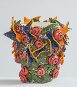 Grande vase aux paplillons