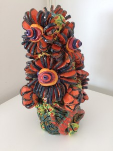 Grand vase aux fleurs derviche bleu nuit, 2018 (collection privée)