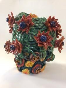 Grand vase aux feuilles araignées (Collection privée)