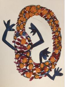 Morgane Salmon ouroboros watercolor